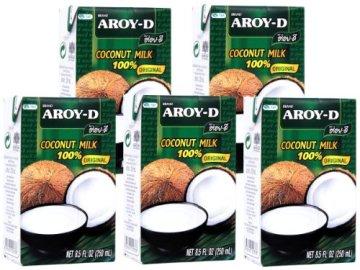 Aroy-D – Kokosmilch – 5er Pack (5 x 250ml) -