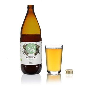Bio-Kombucha Tee Getränk (3x1 Liter / unpasteurisiert / Grüner Tee / Fermentiert von Fairment®) … - 2