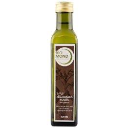 Bio Macadamia-Nußöl 250 ml / hochwertiges Macadamia - Nußöl / kaltgepresstes Öl von Biomond / zum braten, kochen, fritieren - 1