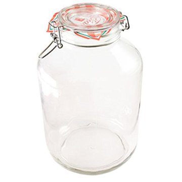 Bormioli Rocco Drahtbügelglas Fido 5000 ml rund Einmachglas Dessertglas Vorspeisenglas Einkochglas -
