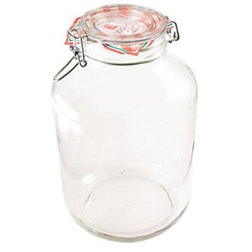 Bormioli Rocco Drahtbügelglas Fido 5000 ml rund Einmachglas Dessertglas Vorspeisenglas Einkochglas - 1