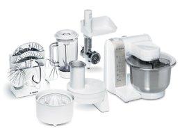 Bosch MUM4880 Küchenmaschine MUM4 (600 Watt, Edelstahl-Rührschüssel, Durchlaufschnitzler, Mixeraufsatz Kunststoff, Fleischwolf, Zitruspresse, Rezept DVD) weiß - 1