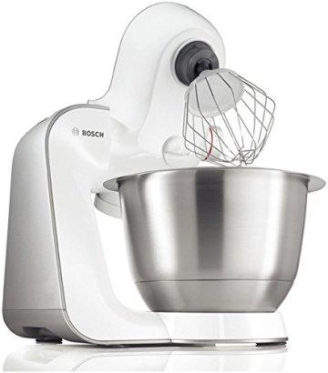 Bosch MUM54251 Küchenmaschine Styline MUM5 (900 Watt, Edelstahl-Rührschüssel inklusiv integriertem Zubehör) - 4