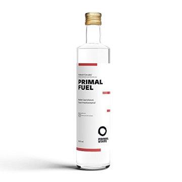 C8 MCT Öl aus reiner Caprylsäure PRIMAL FUEL in Glasflasche   Geschmacksneutral   Reine Caprylsäure (C-8)   Bulletproof Coffee   MCT Oil - 500ml - 1