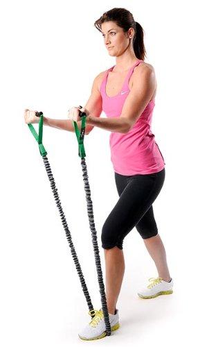 DITTMANN Premium Body Tube Expander Fitnessband Nylonummantelung grün/mittel - 2