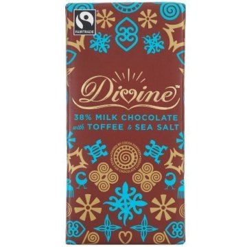 Divine Chocolate Milk Chocolate Toffee and Sea Salt (10×3.5 OZ) by Divine Chocolate -