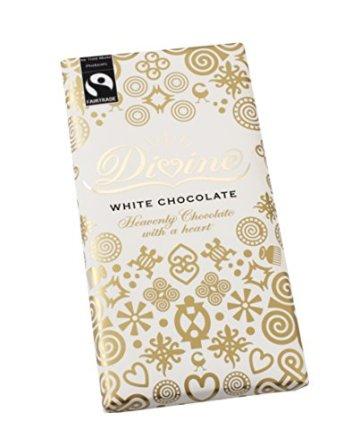 Divine Chocolate – White Chocolate – 100g (Case of 15) -