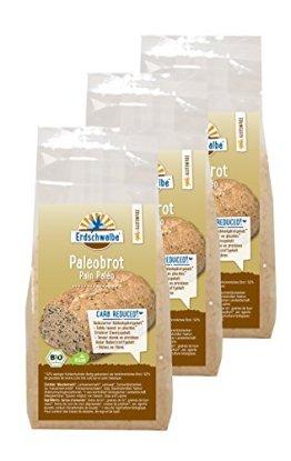 Erdschwalbe Paleo Brot Backmischung Bio, 3er Pack (3 x 300g) / low-carb / glutenfrei - 1