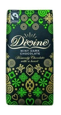 Fairtrade Divine Dark Chocolate with Mint Crisp 100gr. - 1