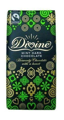 Fairtrade Divine Dark Chocolate with Mint Crisp 100gr. - 1