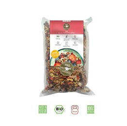 FRÜCHTE MÜSLI Granola (1000g Großpackung) Früchtemüsli von eat Performance || Bio | Paleo | ohne Zuckerzusatz | glutenfrei | laktosefrei | low carb | eiweißreich | superfood | clean eating - 1
