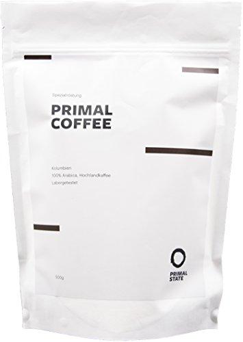 Für Bulletproof Coffee | PRIMAL COFFEE Bohnenkaffee | Schonende Röstung | Arabica aus Kolumbien | Im Labor auf Schadstoffe getestet | Perfekt für Bulletproof Coffee | Spezialröstung in Zusammenarbeit mit den Experten von Coffee Circle - 500g - 1