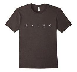 Funny Paleo Shirt, Simple Paleo Text Diet Lifestyle Gift Herren, Größe M Asphalt - 1