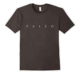Funny Paleo Shirt, Simple Paleo Text Diet Lifestyle Gift Herren, Größe M Asphalt - 1