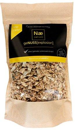 geNUSS[explosion] Low Carb Knusper Nuss Müsli 375g - Ohne {Getreide, Zuckerzusatz Und Soja} (Proteinquelle, Hoher Ballaststoffgehalt, Laktosefrei) - 1