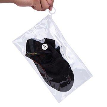 JACKSHIBO Herren Damen Barfuß Wasser Schuhe Unisex Aqua Shoes für Strand Schwimmen Surf Yoga Jungen Mädchen,Schwarz,Erwachsene XL - 7