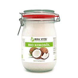 MeaVita Bio Kokosöl, nativ, 1er Pack (1 x 1000 ml) im Bügelglas - 1
