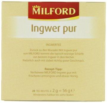 Milford Ingwer pur 28 x 2.00 g, 6er Pack (6 x 56 g) - 4