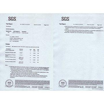 MOVIT Pilates Gymnastikmatte, Yogamatte, phthalatfrei, SGS geprüft, L 190cm x B 100cm, Stärke 1,5cm, Schwarz - 6
