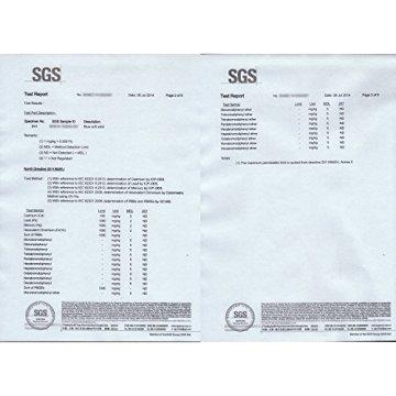 MOVIT Pilates Gymnastikmatte, Yogamatte, phthalatfrei, SGS geprüft, L 190cm x B 100cm, Stärke 1,5cm, Schwarz - 7