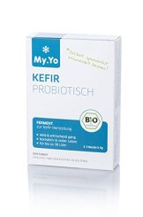My.Yo Kefir Probiotisch, Kefirferment zur Kefirherstellung, 3 Beutel, Bio-Zertifiziert - 1