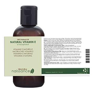 Naissance Natürliches Vitamin E Öl - Tocopherol 100ml 100% rein - 3