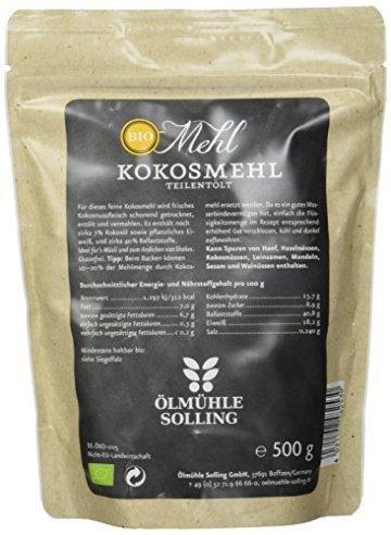 Ölmühle Solling Kokosmehl teilentölt - 3