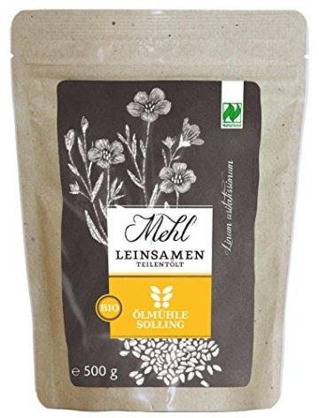 Ölmühle Solling Leinsamenmehl teilentölt, 3er Pack (3 x 500 g) - 1
