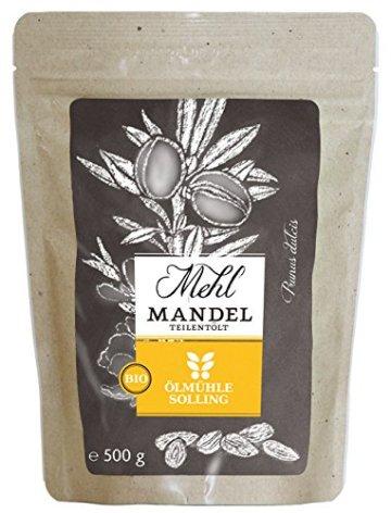 Ölmühle Solling Mandelmehl teilentölt, 1er Pack (1 x 0.5 kg) -