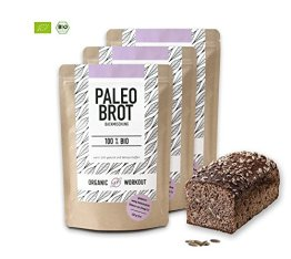 Organic Workout PALEO-BROT-BACKMISCHUNG 3er Pack | 100% Bio | gluten-frei | low-carb | Eiweiss-Brot | clean-eating | Fitness-Brot | hefefrei | ohne Getreide | hergestellt in Deutschland - 1