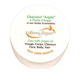 Original Ghassoul Wascherde ultra fein gemahlen mit Arganöl und ätherischen Ölen. Körperpflege, Haarpflege. Pulver für Masken und Peelings, 125g - 1