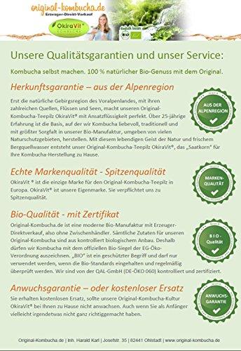 Original-Kombucha-Teepilz Premium Qualität + Bio-Kombucha-Getränk für 1 L, Anleitung + Anwuchsgarantie. Aus dem Heilbad Bad Kohlgrub - 4