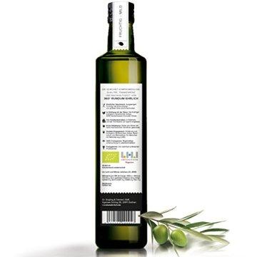 Premium Bio Olivenöl nativ extra | (Griechenland Kalamata / Sparta) von 360° rundum ehrlich | Mild, fruchtig, köstlich | Kaltgepresst, biodynamischer Anbau | Sortenreine Koroneiki-Oliven | 500ml - 4