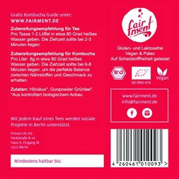 Premium Bio Teemischungen von Fairment®, für Kombucha geeignet, 100g (Hibiskusblüte) - 4