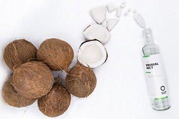 PRIMAL MCT Öl in Glasflasche | Extrakt aus Kokosöl | Geschmacksneutral | Caprylsäure (C-8) und Caprinsäure (C-10) | Bulletproof Coffee | MCT Oil - 100ml - 4