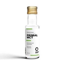 PRIMAL MCT Öl in Glasflasche | Extrakt aus Kokosöl | Geschmacksneutral | Caprylsäure (C-8) und Caprinsäure (C-10) | Bulletproof Coffee | MCT Oil - 100ml - 1