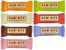 Raw Bite Rohkost (7 Riegel), Mix- Paket, 1er Pack (1 x 350 g) - 1