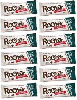 ROOBAR Protein Chia & Spirulina 60g x12 (12er-Pack) Rohkost-Riegel mit Superfoods (bio, roh, vegan, glutenfrei) - 1