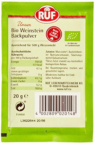 RUF Bio Weinstein Backpulver 20x3er - 4