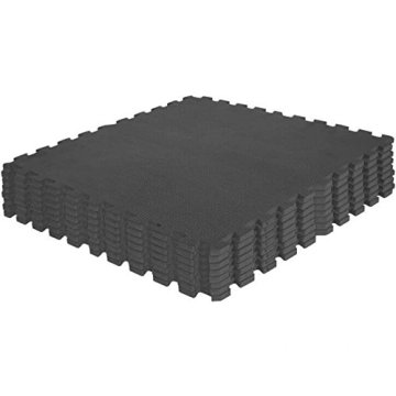 Schutzmatten-Set – GORILLA SPORTS 8 Puzzle-/Sport-Matten 60 x 60 cm, Bodenschutz in Schwarz - 2