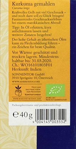 Sonnentor Kurkuma gemahlen, 1er Pack (1 x 40 g) - Bio - 2