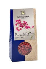 Sonnentor Pfeffer rosa ganz, 1er Pack (1 x 20 g) - Bio - 1