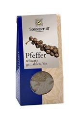 Sonnentor Pfeffer schwarz gemahlen, 1er Pack (1 x 35 g) - Bio - 1