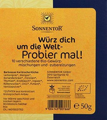 Sonnentor Probier mal! Würz dich um die Welt 10 Einzelgewürze á 5g, 1er Pack (1 x 50 g) - Bio - 4