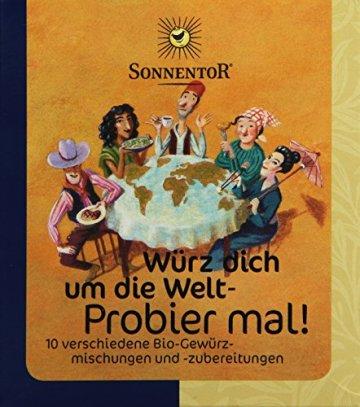 Sonnentor Probier mal! Würz dich um die Welt 10 Einzelgewürze á 5g, 1er Pack (1 x 50 g) - Bio - 1