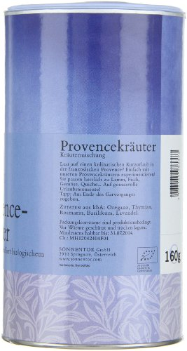 Sonnentor Provencekräuter Gastrodose, 1er Pack (1 x 160 g) - Bio - 2