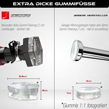 TESTSIEGER 2017* Klimmzugstange mit patentiertem hexagonalem System von Sportstech KS200 (Schwarz)-103 cm - 3