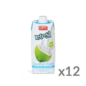 UFC Reines Kokoswasser 100% Pure Kokosnusswasser Thailand 500ml x12 -