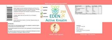 VITARAGNA Eden Active Kreatin Plus 250 Kapseln, reines, hochwertiges Creatin Monohydrat bzw. Creatine Monohydrate, Kraftsteigerung & Muskelaufbau, clean - 2