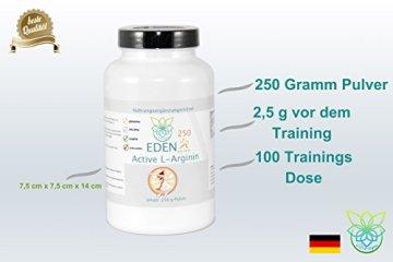 VITARAGNA Eden Active L-Arginin HCL Plus 250 Pulver Pur, vegan, Aminosäure mit optimaler Löslichkeit für pure Kraft, Ausdauer, Muskel & Pump, hochdosiert - 4